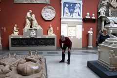 In het Pushkin-Museum Stock Foto