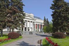 Het Pushkin-Museum van Beeldende kunsten in Moskou Stock Fotografie