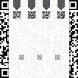 Het Qr gecodeerde ontwerp van het websitemalplaatje Royalty-vrije Stock Fotografie