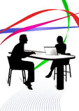 Het raadplegen Vector Illustratie