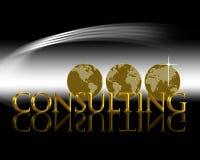 Het Raadplegen van de wereld royalty-vrije illustratie