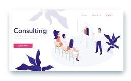 Het raadplegen voor bedrijf vector illustratie