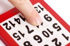 Het raadsel en de vinger van aantallen Stock Foto's