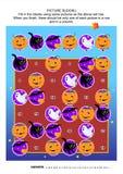 Het raadsel van beeldsudoku, als thema gehad Halloween Stock Afbeelding