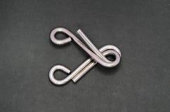 Het raadsel van de draad (de ring van het Raadsel) Royalty-vrije Stock Foto's