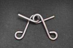 Het raadsel van de draad (de ring van het Raadsel) Royalty-vrije Stock Foto
