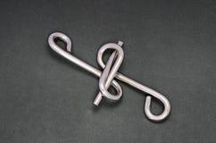 Het raadsel van de draad (de ring van het Raadsel) Stock Fotografie