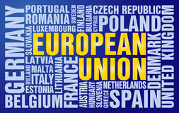 Het raadsel van de Europese Unie Stock Afbeelding