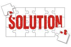 Het raadsel van de oplossing Stock Afbeelding