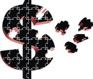 Het raadsel van het geld vector illustratie
