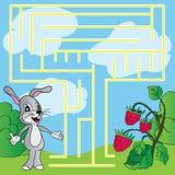 Het raadsel van kinderen - labyrint stock illustratie