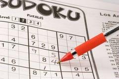 Het raadsel van Sudoku Stock Fotografie