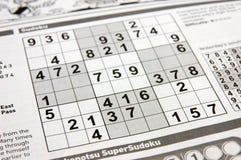 Het raadsel van Sudoku Royalty-vrije Stock Afbeeldingen