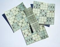 Het raadsel van Sudoku met oplossing stock afbeelding