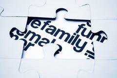 Het raadselconcept van de familie Stock Foto