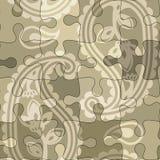 Het raadselpatroon van Paisley stock illustratie