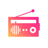 Het Radio Als thema gehade Pictogram stock illustratie