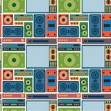 Het radio naadloze patroon van TV Royalty-vrije Stock Afbeelding