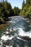 Het rafting ponton van de stroomversnellingrivier Royalty-vrije Stock Foto's