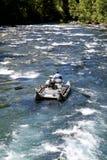 Het rafting ponton van de stroomversnellingrivier Stock Fotografie