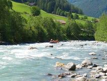 Het rafting van de rivier Stock Foto's