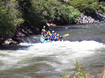 Het rafting van de rivier royalty-vrije stock afbeeldingen