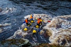 Het rafting van Karelië Stock Fotografie