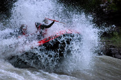 Het rafting van Whitewater royalty-vrije stock foto's