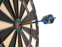 Het raken van bullseye! Stock Afbeeldingen