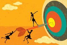 Het raken van het doel royalty-vrije illustratie