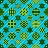 Het Ramadanelement sneed de symmetrie naadloos patroon van de zes ster diagonaal lijn royalty-vrije illustratie