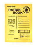 het rantsoenboek in oorlogstijd van 1944 royalty-vrije stock afbeelding