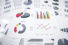 Het rapport van de bedrijfsgrafiekanalyse royalty-vrije stock afbeelding