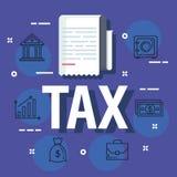 Het rapport van het de belastingsdocument van de financiëndienst vector illustratie