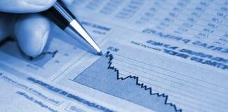 Het rapport van de boekhouding Royalty-vrije Stock Afbeeldingen