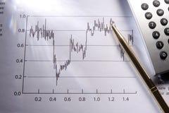 Het rapport van Finacial royalty-vrije stock fotografie