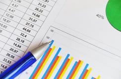 Het rapport van financiën royalty-vrije stock afbeeldingen