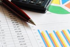 Het rapport van financiën Royalty-vrije Stock Foto