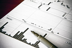 Het rapport van financiën Stock Foto