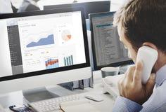 Het Rapportconcept van de bedrijfsgrafiek Visueel Grafiek Stock Afbeeldingen