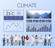 Het Rapportklimaat van het Weersomstandighedennieuws het Voorspellen Meteorologie Te stock afbeelding