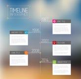 Het rapportmalplaatje van de Infographicchronologie Royalty-vrije Stock Foto's