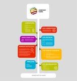 Het rapportmalplaatje van de Infographicchronologie met bellen Royalty-vrije Stock Afbeelding