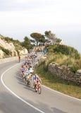 Het Ras 2011 van de Cyclus Milaan-Sanremo stock foto's