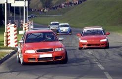 Het ras van de auto Stock Fotografie
