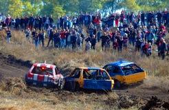 Het ras van de auto voor overleving Royalty-vrije Stock Foto