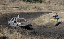 Het ras van de auto voor overleving Stock Fotografie