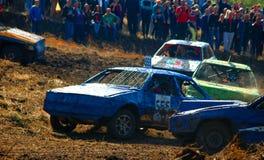 Het ras van de auto voor overleving stock foto