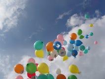 Het ras van de ballon Stock Afbeeldingen