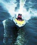Het ras van de boot Stock Foto's